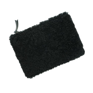 Primecut Zipper Pouch Black Shearling