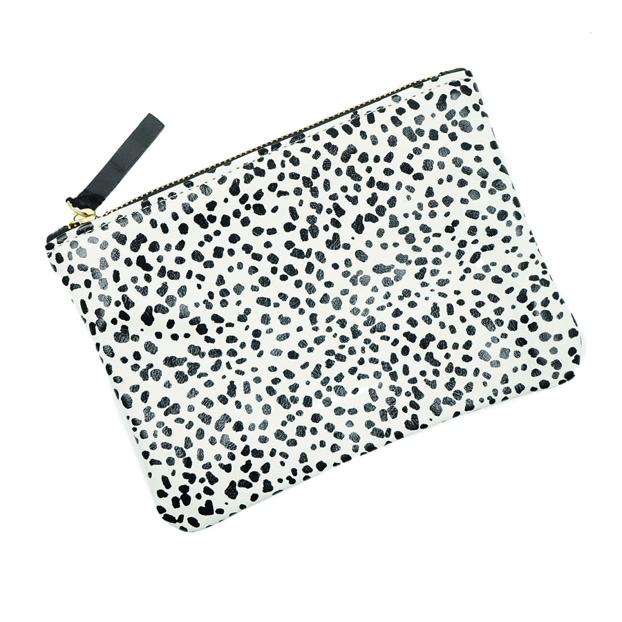 Primecut Zipper Pouch Tiny spotted leather