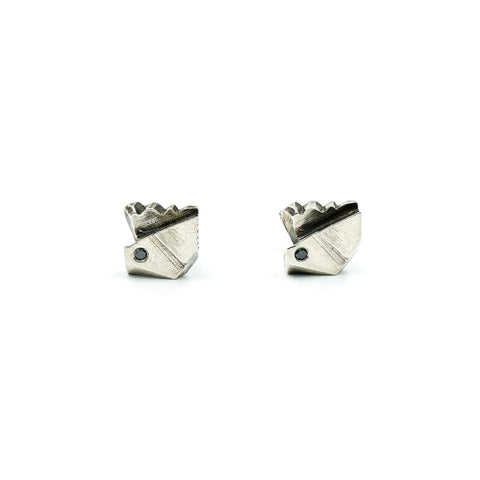Prism Sterling Black Diamond Cufflinks
