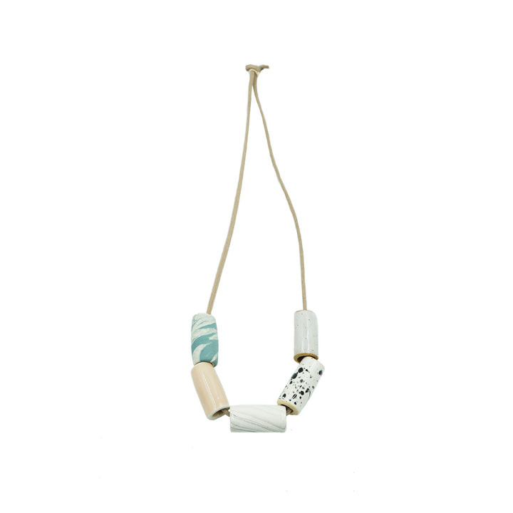 Blush/Marble Ceramic Bead Necklace by The Pursuits of Happiness