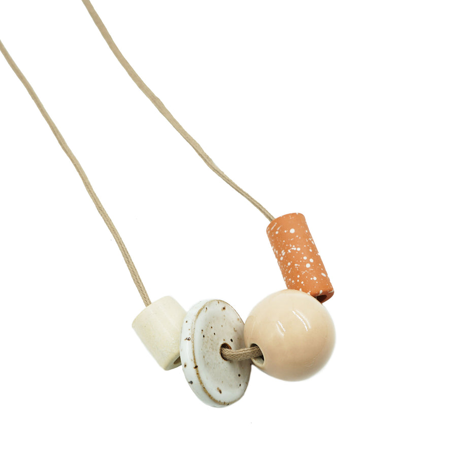 Ceramic Shapes Necklace by The Pursuits of Happiness