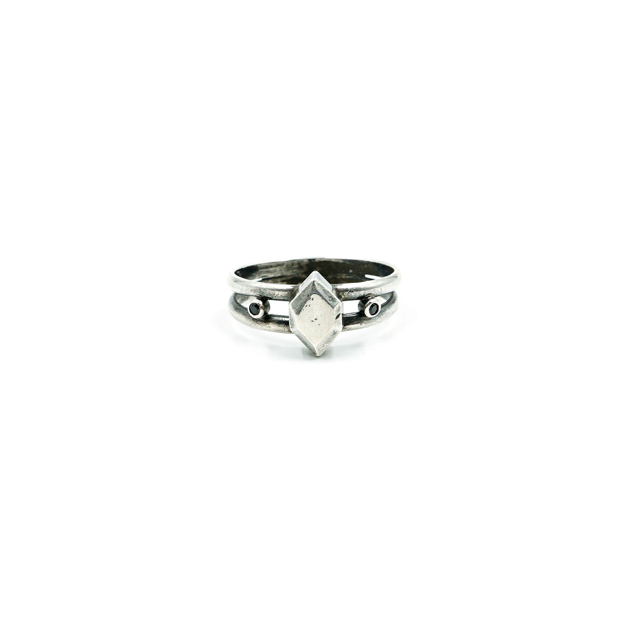 Sterling Gem Ring w/ Black Spinel