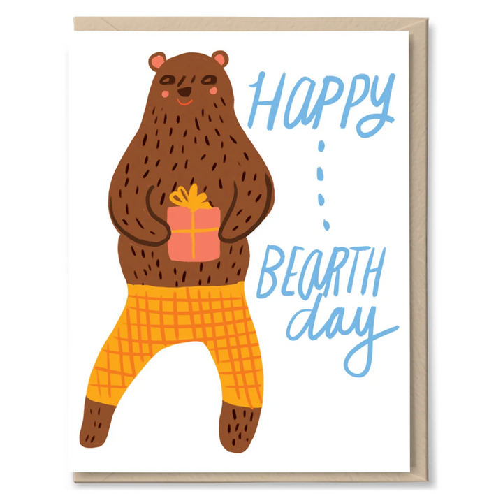 Happy Bearthday Card by Tigerpocket Press