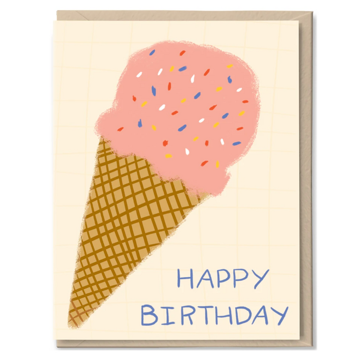Ice Cream Birthday Card by Tigerpocket Press