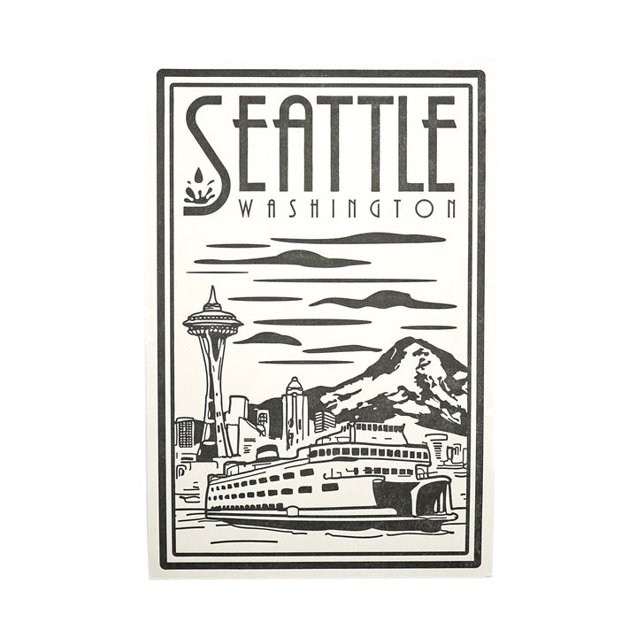 Seattle Lino Postcard