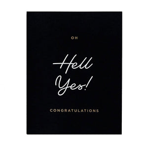 Hell Yes Congrats Card by Stefi Mar
