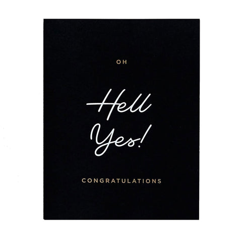 Hell Yes Congrats Card