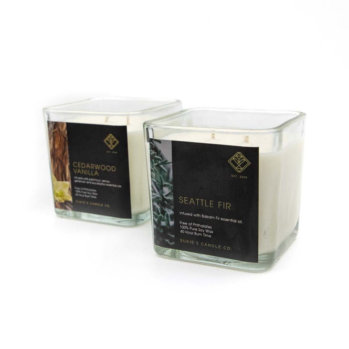 Double Wick Soy Candle by Sukie's Candle Co.