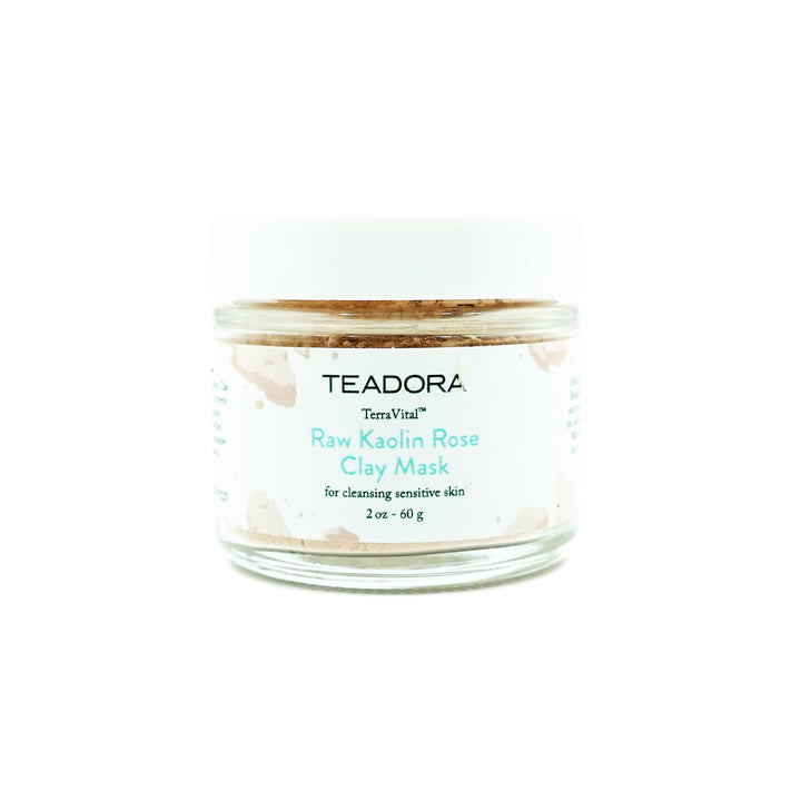 2oz Brazilian Kaolin Rose Clay Mask by Teadora