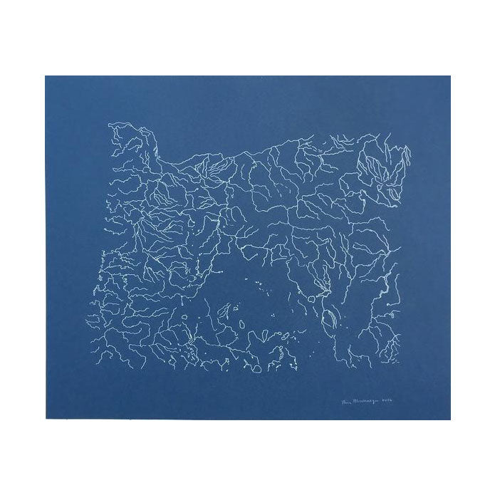 Oregon Rivers Map