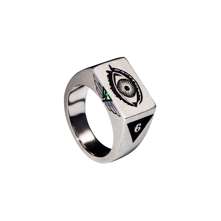 Sight 5 Senses Signet Ring by Third Eye Assembly