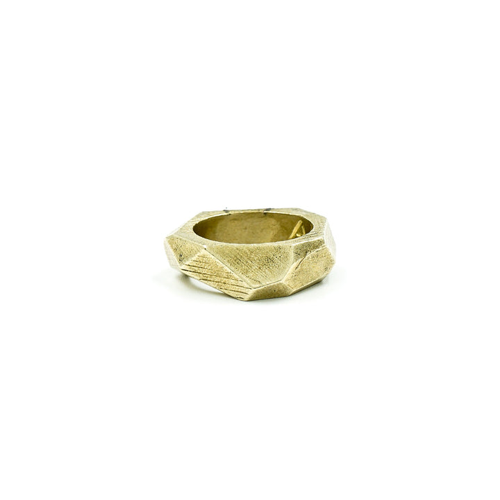 Lattice Ring Brass