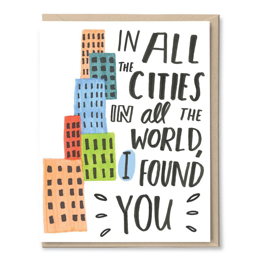In All the Cities Card by Tigerpocket Press