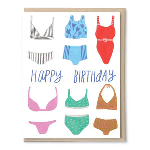 Birthday Bathing Suits Card by Tigerpocket Press