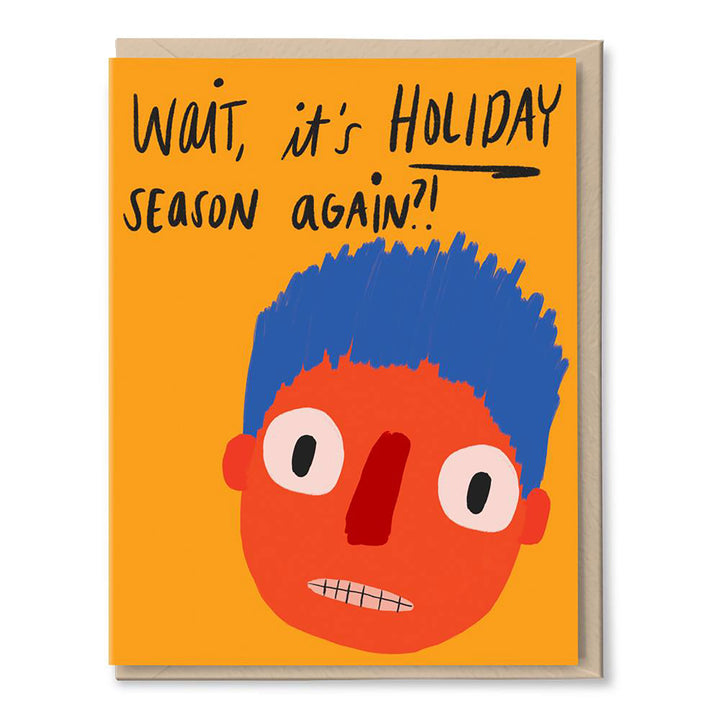 Holiday Face Card by Tigerpocket Press\