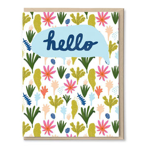 Jungle Hello Card by Tigerpocket Press