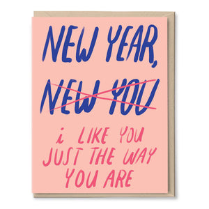 New Year Same You Card by Tigerpocket Press