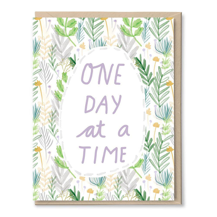 One Day at a Time Card by Tigerpocket Press