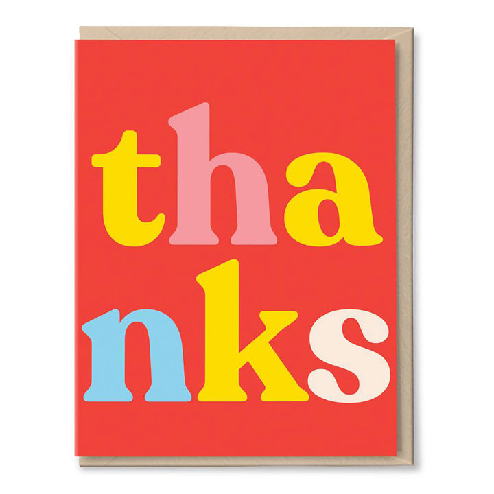 Th-anks Card by Tigerpocket Press