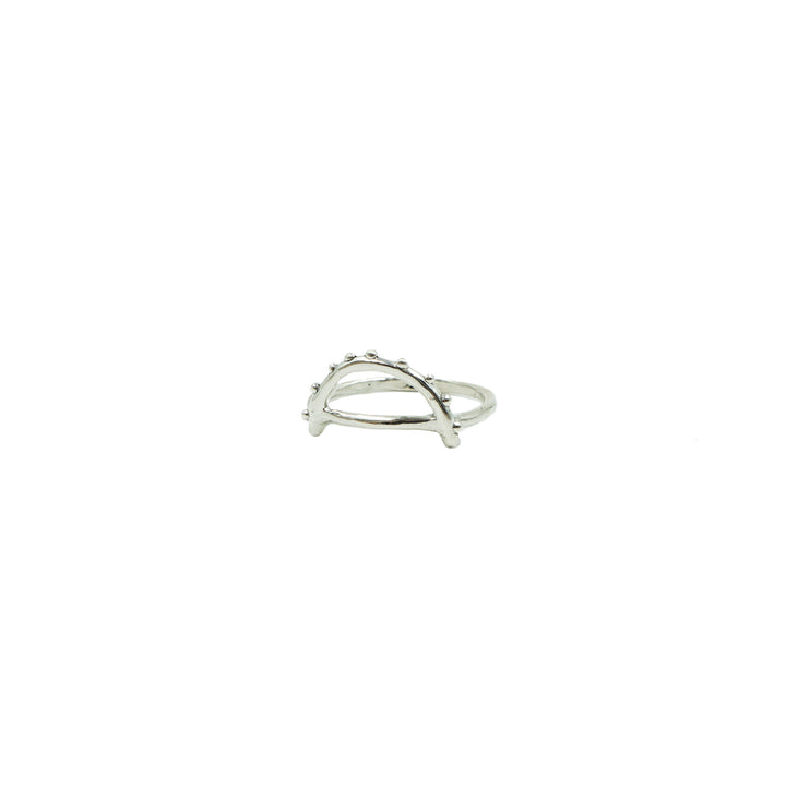 Arc Ring Silver by Tiny Asteroid Jewelry