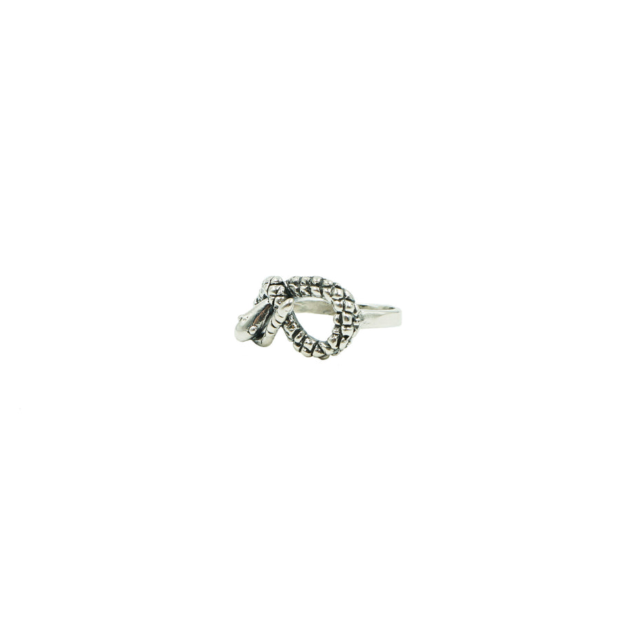 Snake Ring Silver by Tiny Asteroid Jewelry