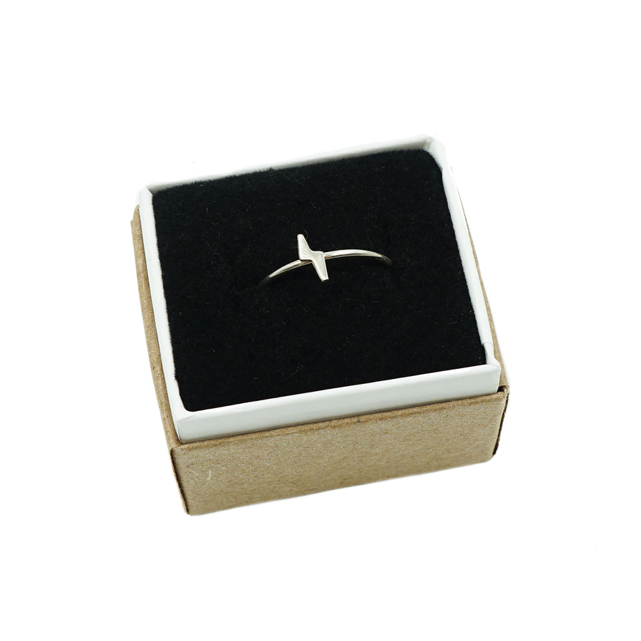 Lightning Silver Ring by Upper Metal Class
