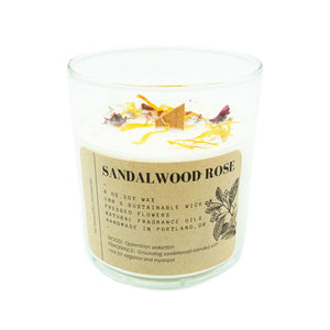 Tumbler Candle Ritual + Fancy Sandalwood Rose