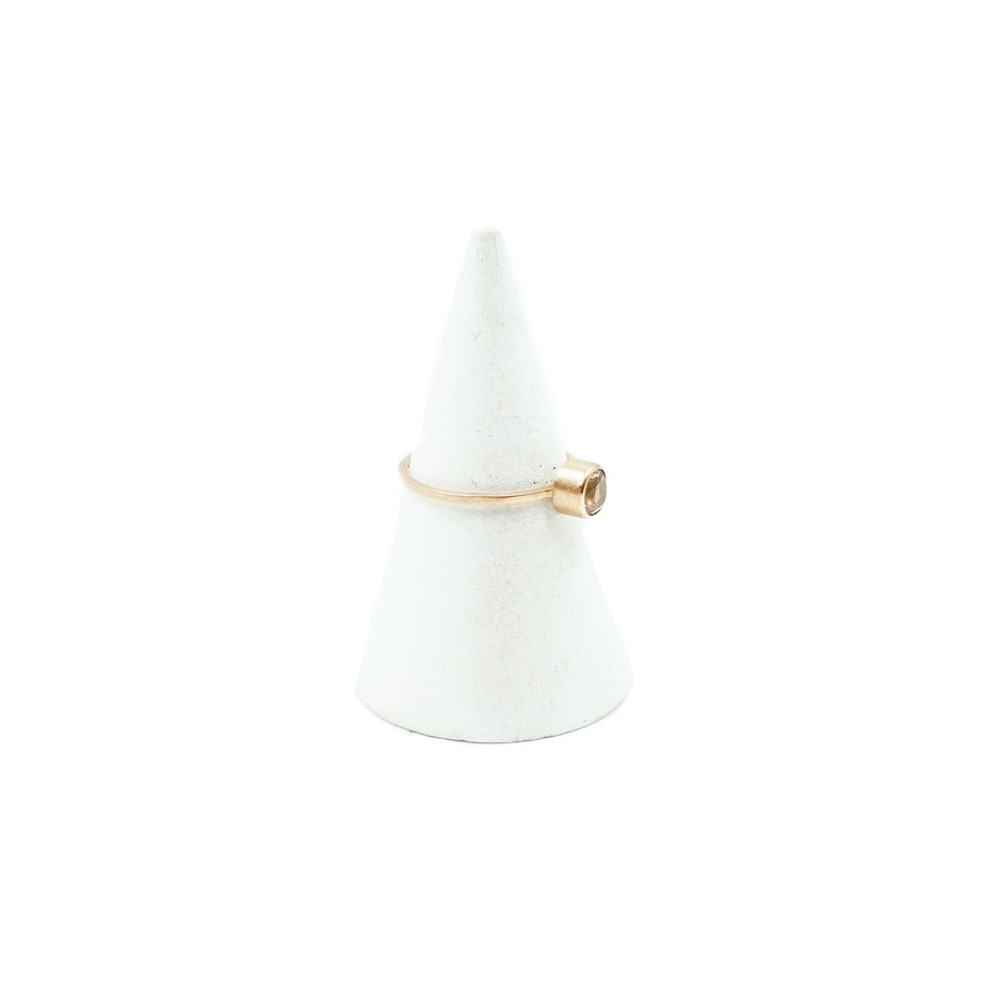 4.7mm Oregon Sunstone 14k Rose Gold Ring