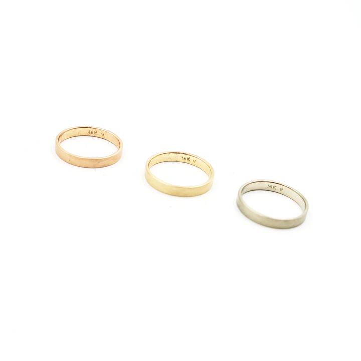14K Gold 3mm Ring Band by VK Designs