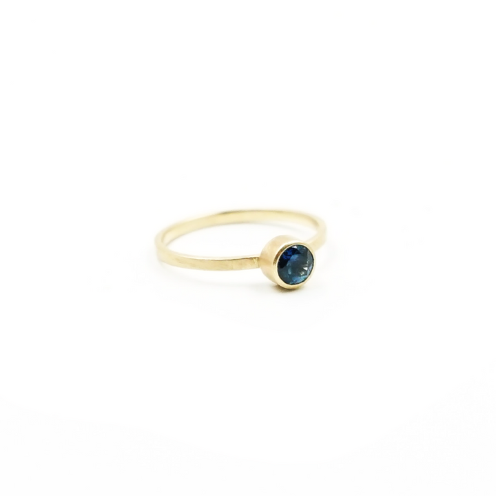 4.5mm Blue Montana Sapphire Ring by VK Designs