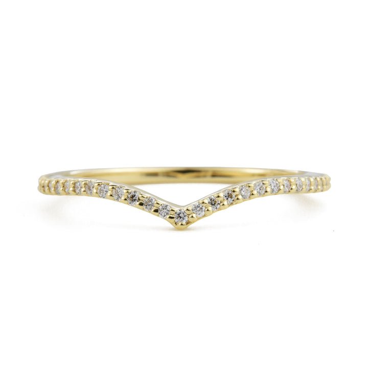 Dainty Diamond 14k Yellow Gold Nova Band by Valerie Madison