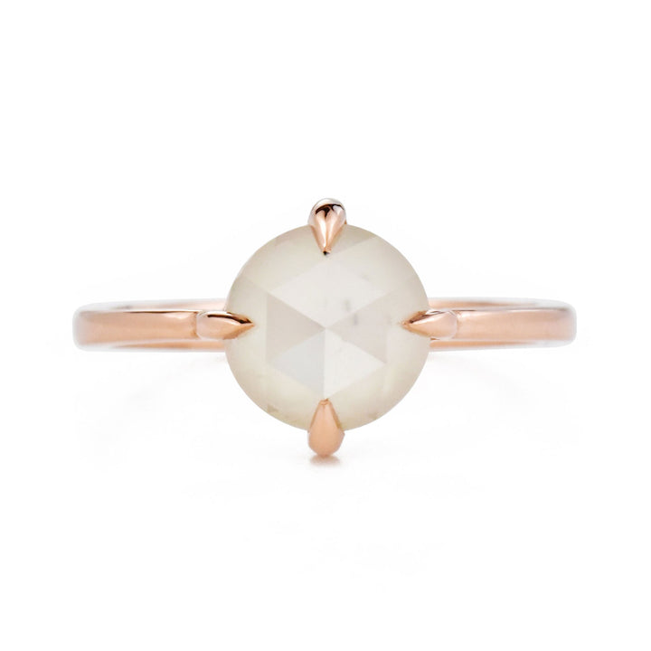 Eva Pearly 1.68ct White Diamond 14k Rose Gold Ring 6 by Valerie Madison