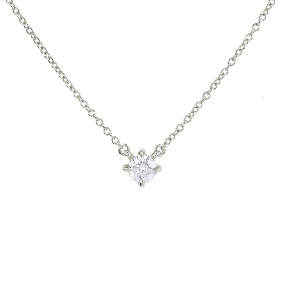 Eva Diamond White Gold Necklace by Valerie Madison