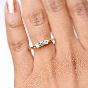 Lily Three Stone Diamond Ring by Valerie Madison