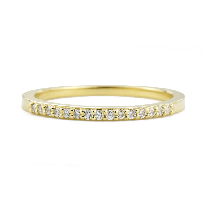 Nina Diamond 14k Yellow Gold Band by Valerie Madison