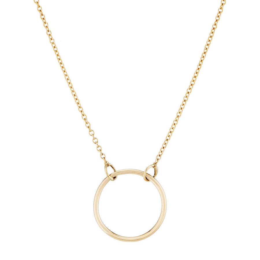 "18"" Gold Circle Necklace by Valerie Madison"