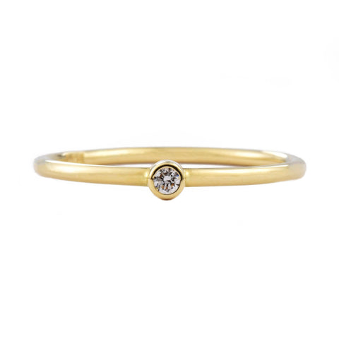 Tiny 14k Gold Diamond Ring
