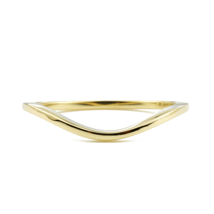 Dainty Gold Wave Ring by Valerie Madison