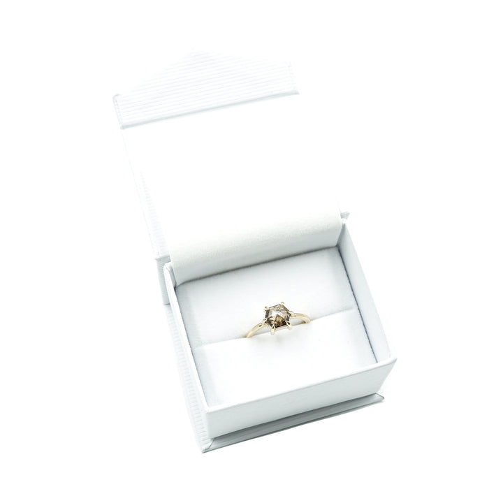 Honey Hexagon Rose Cut Diamond Ring