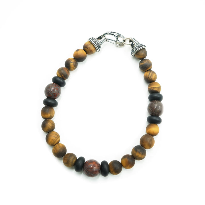Dragon Fire Tiger's Eye Bracelet by William Henry