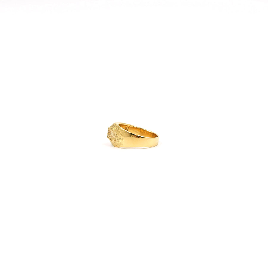 Mount St. Helens Narrow Plated Gold Ring