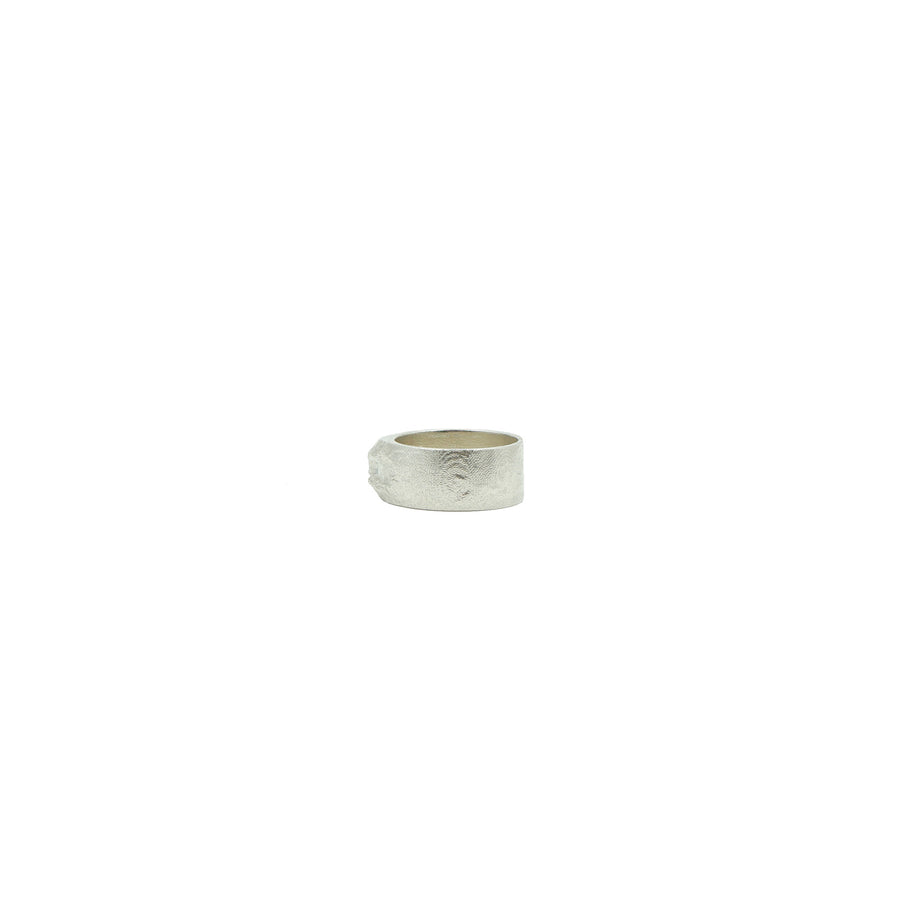 Mount St. Helens Wide Silver Ring by Waaypoint