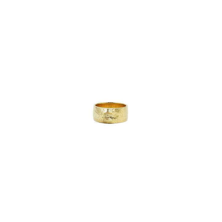 Mount St. Helens Wide Plated Gold Ring by Waaypoint