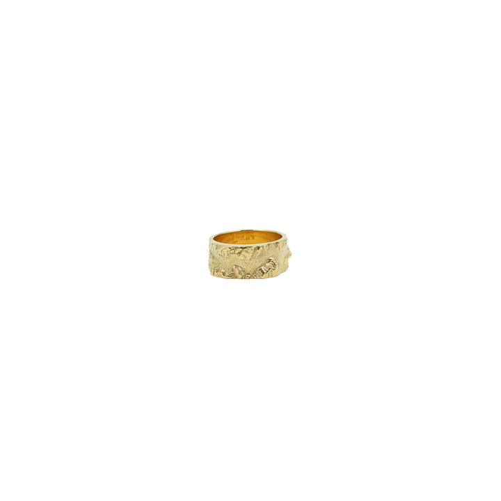 Yosemite Valley Wide Plated Gold Ring by Waaypoint