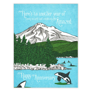 Amazed Anniversary Card by Waterknot