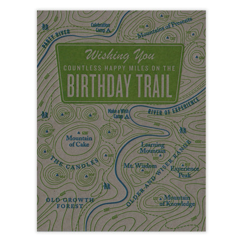 Birthday Trail Card