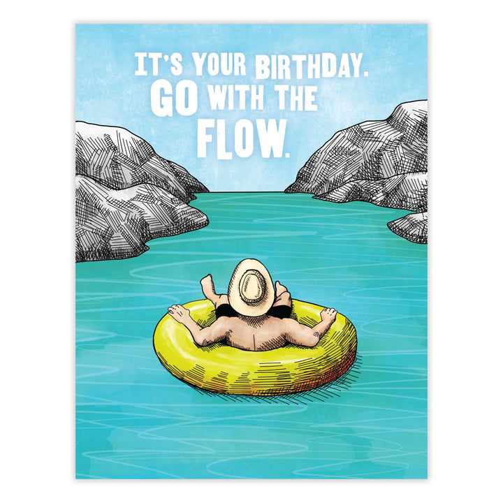 Go With the Flow Birthday Card Waterknot