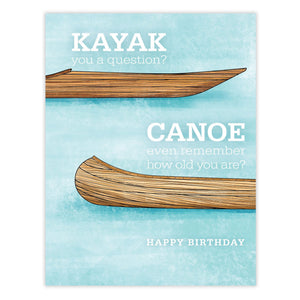 Kayak Canoe Birthday Card Waterknot