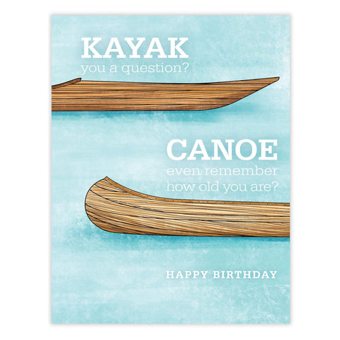 Kayak Canoe Birthday Card