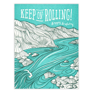 Keep On Rolling Birthday Card Waterknot